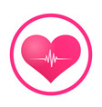 heart pulse sign icon vector image