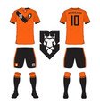 netherlands soccer jersey or football kit vector image