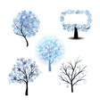 Wiinter Tree Set vector image