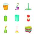 Sanitary day icons set cartoon style vector image