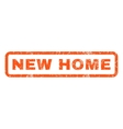 New Home Rubber Stamp vector image