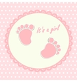Card for newborn vector image