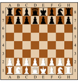 Chess board with chess pieces vector image