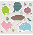 Collection of cute speech bubbles vector image vector image