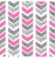 Herringbone abstract seamless pattern in memphis vector image