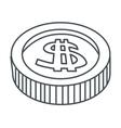 single coin icon vector image