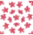 Seamless pattern with sakura flowers vector image