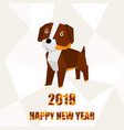 a made dog dog model on a stylized paper vector image