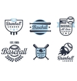 Baseball Emblems or Badges with Various Designs vector image
