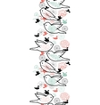 Birds silhouettes vertical seamless pattern vector image