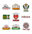 different casino icons vector image
