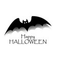 happy halloween concept black bat with text vector image