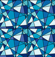 Seamless background with blue mosaic made of vector image
