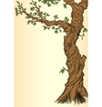 Summer or spring background with tree vector image