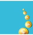 abstract business background with falling coins vector image