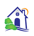 House for real estate logo vector image vector image
