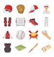 ball helmet bat uniform and other baseball vector image
