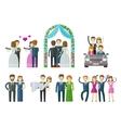 wedding marriage nuptial logo design vector image