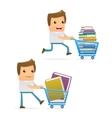 book shopping vector image vector image