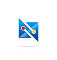 abstract technology media logo vector image