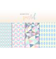 geometric pastel pattern vector image