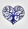 openwork heart with a tree inside laser cut vector image