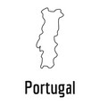 portugal map thin line simple vector image