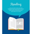 Reading book concept vector image