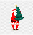 santa claus christmas isolated vector image