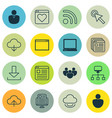 set of 16 web icons includes login account pc vector image
