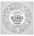 Set of Design cartoon doodle objects symbols and vector image