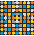 Tile pattern with colorful dots vector image
