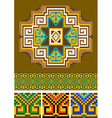 Rug piece of ornament vector image vector image