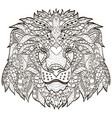 zentangle stylized cartoon head of a lion vector image