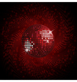 red disco ball and halftone vector image