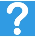 Question flat white color icon vector image