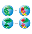 Historical World Maps vector image vector image