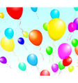 Color Glossy Balloons isolated on Blue in vector image