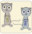 couple cats together vector image