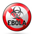 ebola biohazard virus danger sign with reflect vector image