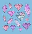 fashion shiny diamond stickers set vector image