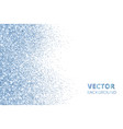 glitter confetti falling from the side blue vector image