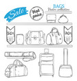 hand drawn bag shop concept vector image