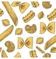Italian Pasta Seamless Pattern vector image