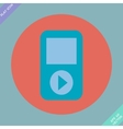 Portable musical player - vector image