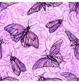 seamless pattern with butterflies in soft vector image