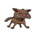 wild dog cartoon hand drawn image vector image