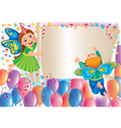 Holiday background with kids butterflies vector image vector image