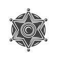 Sheriff badge Black icon logo element isolated on vector image