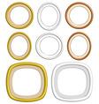 3d circle frame vector image